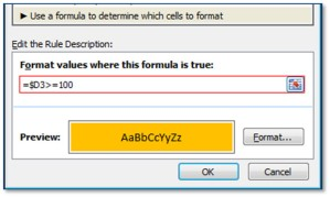 Conditional Format Dialog
