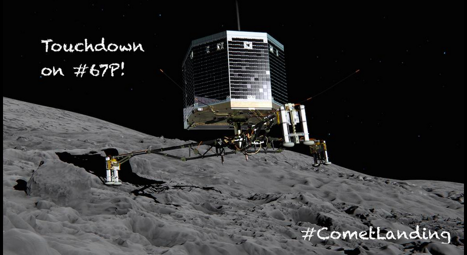 The Rosetta's Philae Lander Makes History, Successfully Lands On Comet 67P